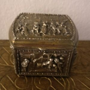 Antique Metal Jewelry Box